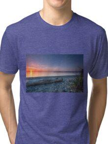 Birch bay sunset Tri-blend T-Shirt