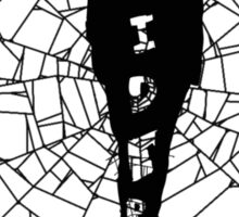 A spider at the center of a web Sticker