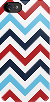 Red White And Blue Zig Zags by kwg2200