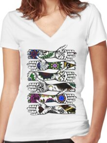 Arms of Religion Women's Fitted V-Neck T-Shirt