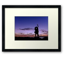 Picture a perfect kiss Framed Print