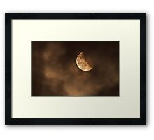 Blood moon 2014 last stage Framed Print