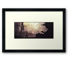 Wasteland Journey- The City of Iraxes Framed Print