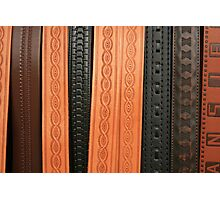 Stamped Belts Photographic Print