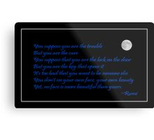 Rumi Quote - Beauty - Loving You Metal Print