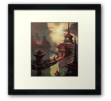 High Mountain Temples Framed Print