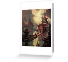 High Mountain Temples Greeting Card