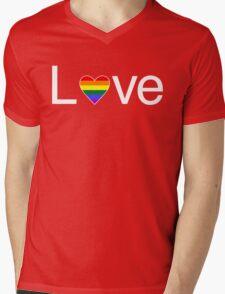 L♥ve (Gay Pride) Mens V-Neck T-Shirt