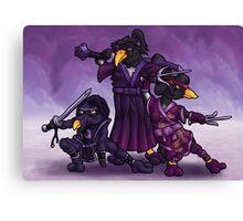 Samurai Ninja Penguin Team Canvas Print
