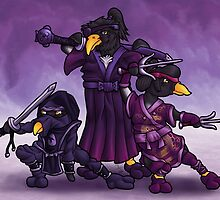 Samurai Ninja Penguin Team by ianablakeman