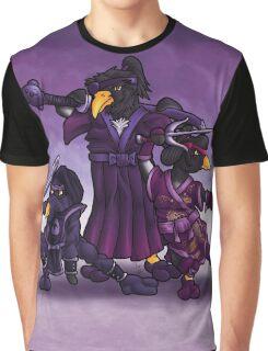 Samurai Ninja Penguin Team Graphic T-Shirt