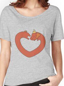 Hot Dog Princess Love Heart Women's Relaxed Fit T-Shirt