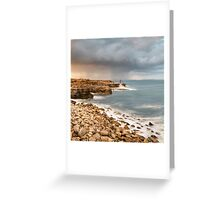 Sunset Storms at Portland Bill Greeting Card