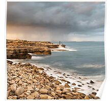 Sunset Storms at Portland Bill Poster