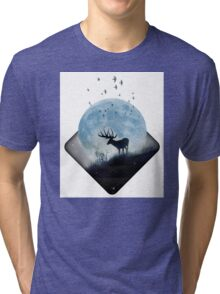 moon shadow Tri-blend T-Shirt