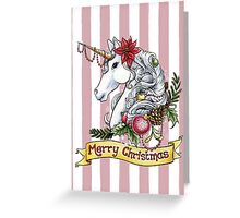 Christmas Unicorn Greeting Card