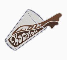 Milk Chocolate Longboards Logo Tee by Lewiz