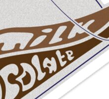 Milk Chocolate Longboards Logo Tee Sticker