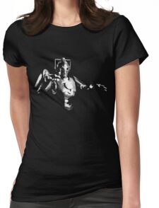 Cyberman Monochrome Womens Fitted T-Shirt
