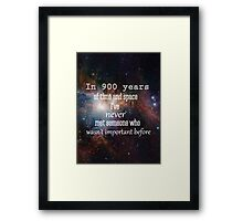Doctor Who - In 900 Years of Time and Space Framed Print