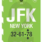 JFK Baggage Tag by axemangraphics