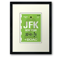 JFK Baggage Tag Framed Print