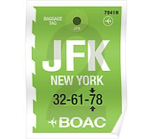 JFK Baggage Tag Poster