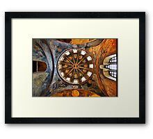 One of the domes in Chora church Framed Print