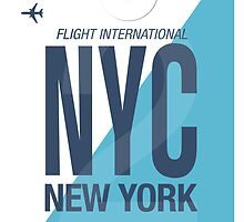 NYC Baggage Tag by axemangraphics