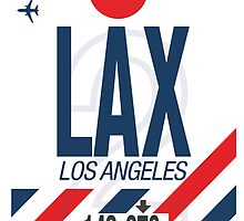 LAX Baggage Tag by axemangraphics