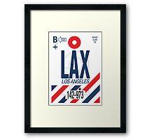 LAX Baggage Tag Framed Print
