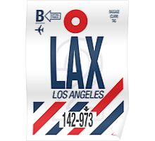 LAX Baggage Tag Poster