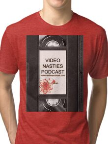 Video Nasties Podcast VHS Label Tri-blend T-Shirt
