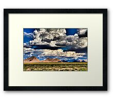 Southern New Mexico Landscape Framed Print