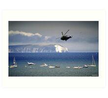 Chopper Over The Needles Art Print