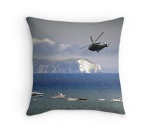 Chopper Over The Needles Throw Pillow