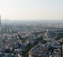 At the top- Paris view from Montparnasse tower by TheSmileEffect