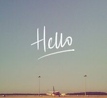 Hello Plane  by tayeichi