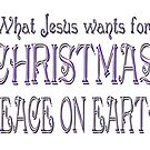 What Jesus Wants For Xmas by scholara