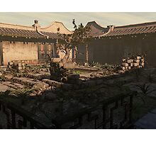 Japanese Courtyard - The Overgrowth Photographic Print