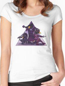 Samurai Ninja Penguin Team Women's Fitted Scoop T-Shirt