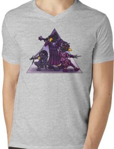 Samurai Ninja Penguin Team Mens V-Neck T-Shirt