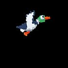8-Bit Duck - Black by nellyb