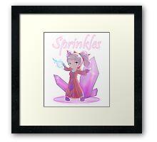 Chibi Gnome Mage - Sprinkles Framed Print