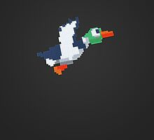 8-Bit Duck - GreyDark by nellyb