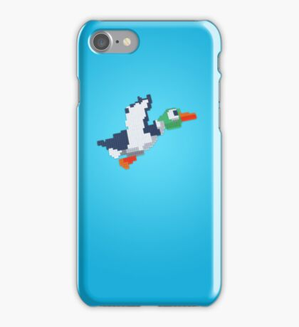 8-Bit Duck - Blue iPhone Case/Skin