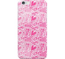 Pink watercolor hand painted romantic hearts  iPhone Case/Skin