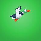 8-Bit Duck - Green by nellyb