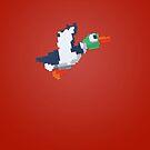8-Bit Duck - Red by nellyb