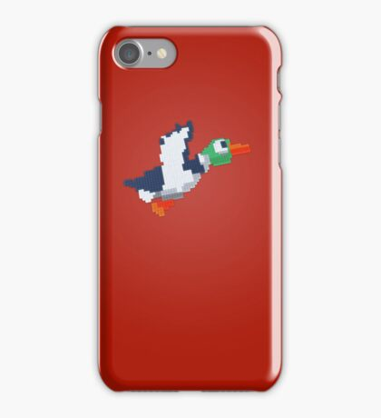 8-Bit Duck - Red iPhone Case/Skin